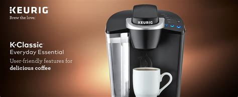 Simple touch buttons make your brewing experience stress free, and multiple. Keurig K55/K-Classic Coffee Maker, K-Cup Pod, Single Serve, Programmable, Black - iBigBuy.com