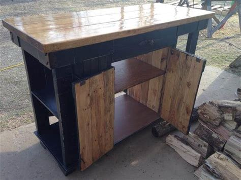 kitchen island made out of pallets pallet and lumber kitchen island pallet furniture diy 9414