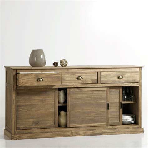 Buffet Portes Coulissantes Pin Massif