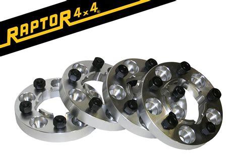 Raptor 4x4 Aluminium 30mm Wheel Spacers X4 Hubcentric Land