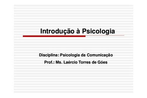 introdução a psicologia baixar
