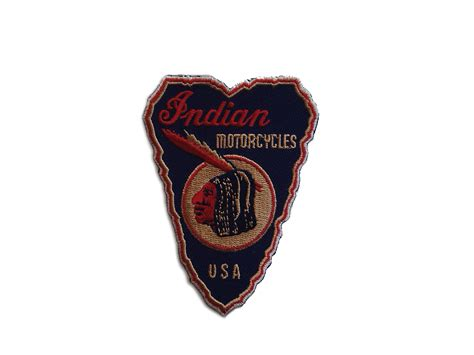 Indian Arrow Type Motorcycle Patches