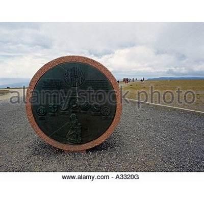 Monument at Nordkapp North Cape Mageroya Mahkaravju island