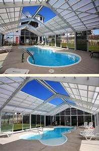 Retractable roof over enclosed pool area home decor for Indoor pool with retractable roof