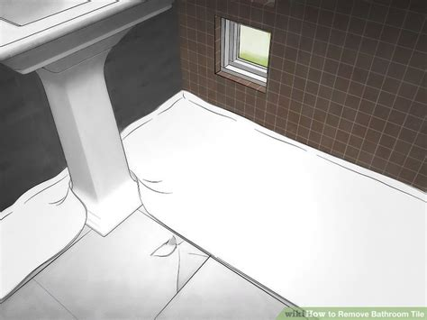 Removing Bathroom Floor Tiles by How To Remove Bathroom Tile 11 Steps With Pictures