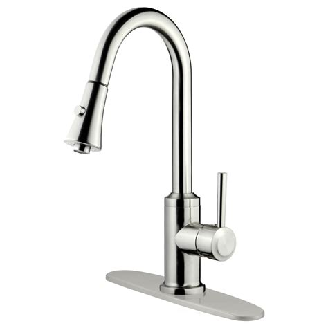 kitchen faucets brushed nickel lk11b brushed nickel finish pull out kitchen faucet