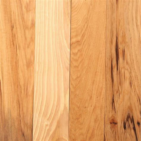 hickory flooring bruce hickory rustic natural 3 4 in thick x 3 1 4 in wide x random length solid hardwood