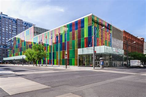 The Colourful Palais Des Congrès In Montreal  Another Angle
