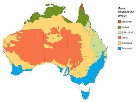 meteorology bureau australia map 1 the key climate 39 major classification groups 39 in