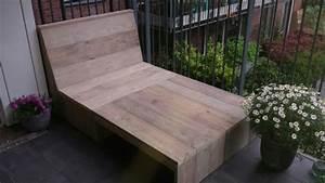 Balkon Bank Klein : balkon loungebank van gebruikt steigerhout op eigen houtje meubels ~ Frokenaadalensverden.com Haus und Dekorationen