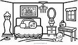 Coloring Bedroom Fashionable Nursery Fun sketch template