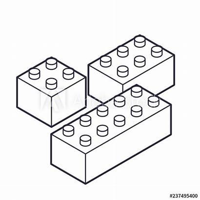Blocks Outline Building Toys Plastic Children