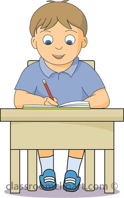 boy student working clipart school clipart boy working at desk classroom clipart