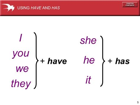 Using The Verb Have