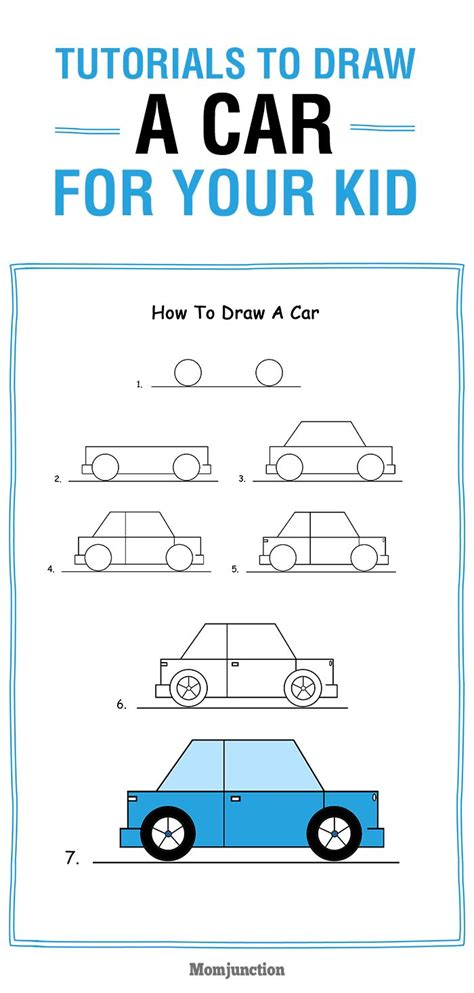 How To Draw A Car Step By Step With Pictures by How To Draw A Car Step By Step For Easy