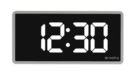 digital clocks digital synchronized clock systems sapling clocks