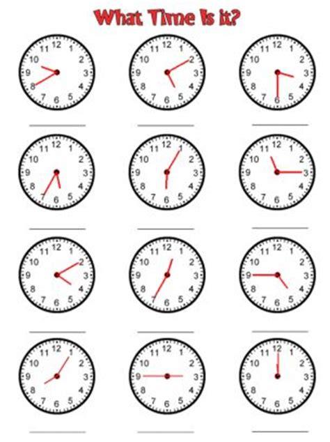 clock time worksheets  printable worksheets math
