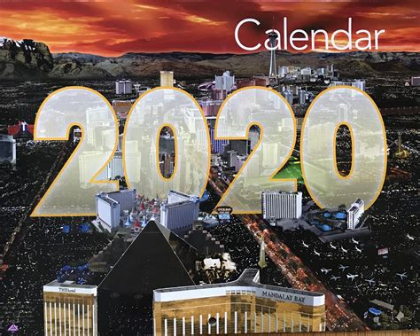las vegas wall calendar current year year