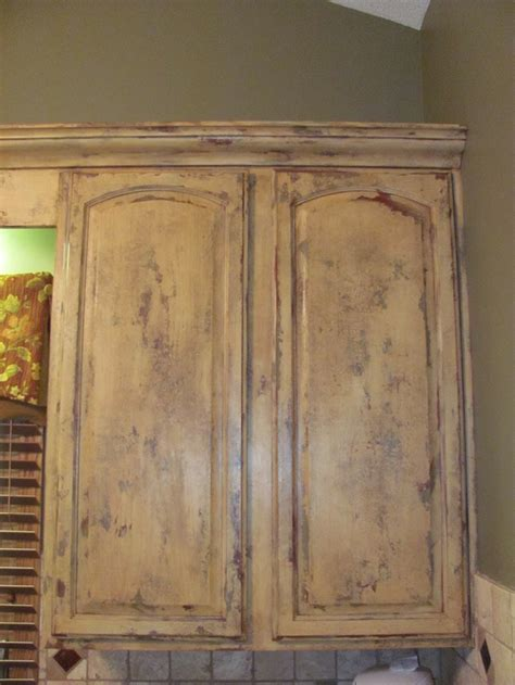 how to distress wood cabinets furniture