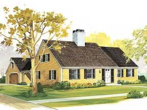 cape cod house plans with attached garage starter or retirement home plan cape cod traditional 3 bedrooms 2 baths study covered