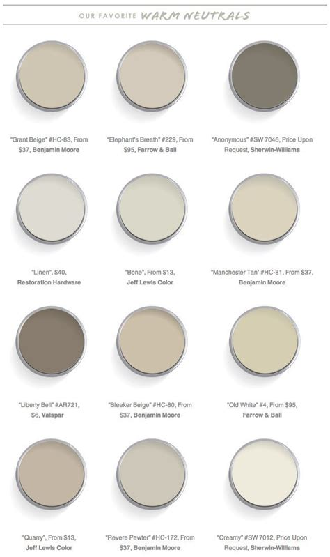 The 12 Best Warm Neutrals For Your Walls  Paint Colors
