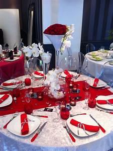 Décoration Mariage Rouge Et Blanc : d coration de table rouge et blanc mariage chica shop ~ Melissatoandfro.com Idées de Décoration