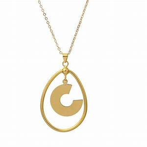 wholesale fashion18k gold plated concise letter c pendant With gold letter c pendant