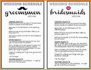 Free wedding schedule template gallery template design ideas for Wedding day schedule templates