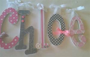 pink and grey nursery decor single letter baby girl With baby name wooden letters