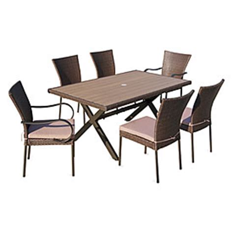 Wilson Fisher Patio Table by Wilson Fisher 174 Hyde Park Resin Wicker Outdoor Dining