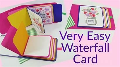 Waterfall Card Tutorial Easy Cards Diy Homeschooling