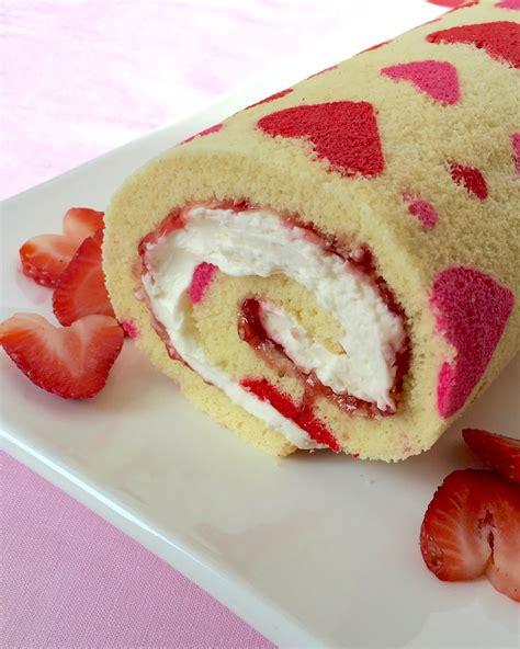 cake roll valentine s day strawberry cake roll tarateaspoon