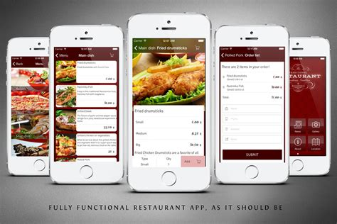 application cuisine android restaurant app template by mobidonia codecanyon