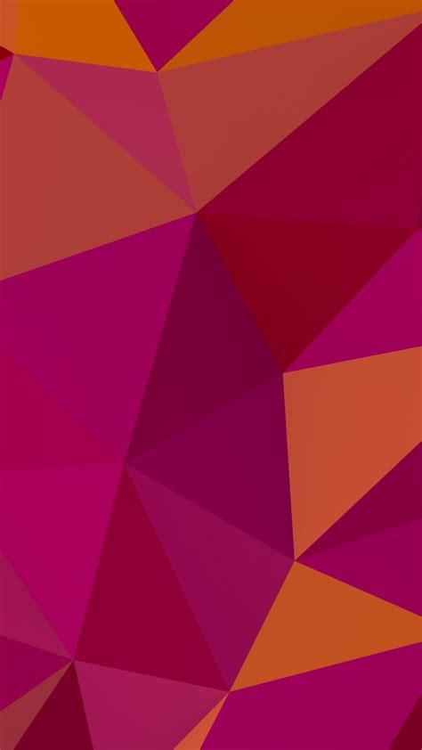 wallpaper polygon   wallpaper  pink orange