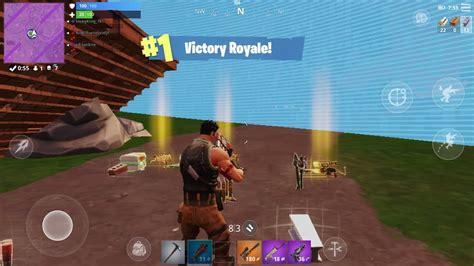 fortnite mobile winning  squad game