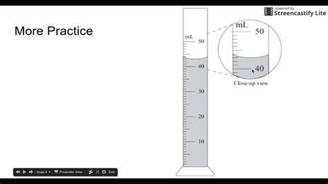 how to read a graduated cylinder