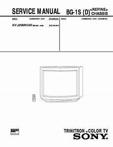 Sony Kv-j25mn1ak Service Manual