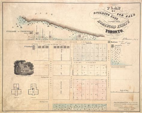 Plan Of Building Lots For Sale Upon The Homewood Estate