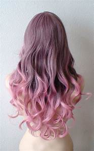 Brown / Pink Ombre wig. Pastel Pink wig. Light brown ...