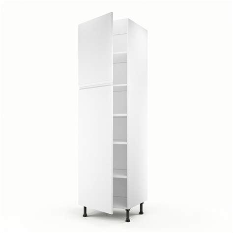 meuble colonne pour cuisine meuble de cuisine colonne blanc 2 portes graphic h 200 x l