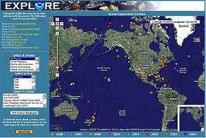 Oe Digital Atlas Using Google Maps Provides The Noaa Signature