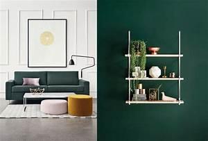 30 inspirations pour une deco en vert fonce joli place for Attractive peinture murale couleur pastel 12 30 inspirations pour une deco en vert fonce joli place
