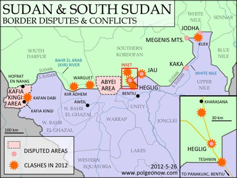 Sudan & South Sudan's Disputed Territories