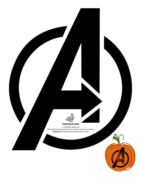 avengers logo pumpkin template woo jr kids activities