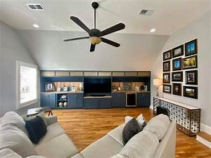 How, To, Decorate, An, Angled, Wall, With, Custom, Media, Room, Built