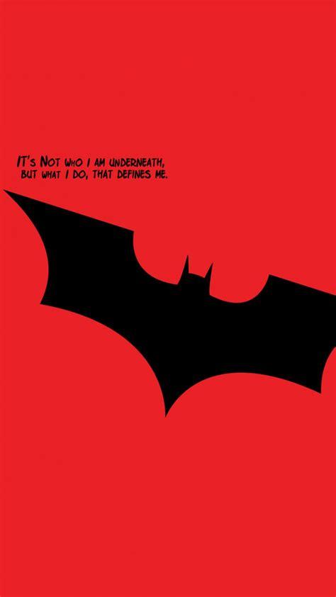 batman quotes minimal red  pure  ultra hd