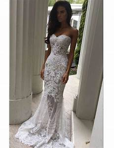 modern sweetheart appliques lace mermaid wedding dresses With modern lace wedding dresses