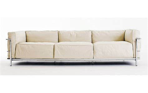 seated sectional sofa lc3 grand modele three seat sofa design within reach