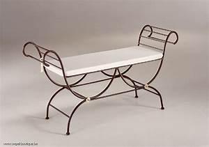 Lit Banquette Fer Forgé : banc bout de lit fer forge ~ Teatrodelosmanantiales.com Idées de Décoration
