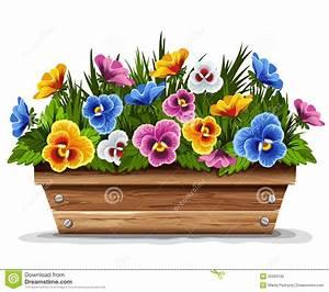 Fleur En Bois : bac de fleur en bois avec des pens es photo libre de ~ Dallasstarsshop.com Idées de Décoration
